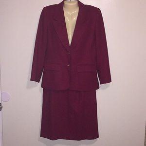 Pendlelton Vintage 2 piece Wool Skirt Blazer Suit